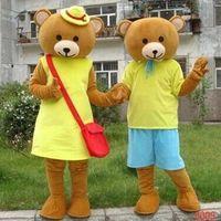teddybär kostüm benutzerdefinierte großhandel-Professionelle benutzerdefinierte Teddybär Maskottchen Kostüm Party Kleid Erwachsene