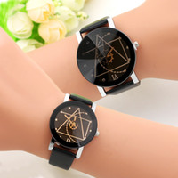 Wholesale Wholesale Wheel Strap - Fashion Ladies Men Watches Leather Couple Quartz Watch compass wheel gear style Thin Casual Strap Watch