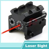 Wholesale Mini Red Dot Laser Weaver - Tactical Mini Red Dot Laser Sight Scope Rail Weaver Detachable Picatinny 20MM Rail Mount For Pistol HT3-0012