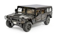 Wholesale Model Hummer Car Toys - 4 - doorwagon meritor figure luxuriously hummer black fine alloy toy car model