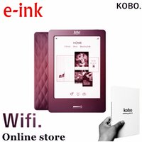 Wholesale Ebook Ereader - Kobo,6 inch, e-ink, ebook reader, touch screen,e book ,not glo, wifi,ereader,ink,books free shipping ,also have kindle for sale