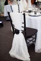 ingrosso fasce di pizzo verde-Sedia Sash per Matrimoni Pizzo Delicato Matrimonio 3D Fiore Decorazioni Coprisedili Telai per sedie Accessori da sposa