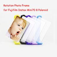"""Wholesale Polaroid Photos - Rotation Acrylic Photo Frame for Fujifilm Instax Mini70 8 Polaroid Photo Film 3"""" Transparent Mini Table Frame"""