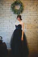 Wholesale Crepe Satin Line - Best Selling Fashion Junior Bridesmaid Dresses Satin Sweetheart With Tulle Black Bridesmaid Dress Ball Gown Ankle Length Zipper Back