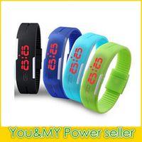 Wholesale Thin Digital Watches For Men - 2016 Fashion Ultra-thin Touch Electronic Digital Watch for Women Relgio Casual Men Sport watch Practical Led Wristwatch Drop Shipping
