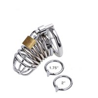Wholesale Chasity Cages - Stainless Steel male chastity cages Male Chastity Device Male Sex Toy male penis Ring chasity device CD001