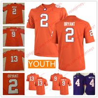 Wholesale Kelly S Kids - Youth Clemson Tigers #2 Kelly Bryant 9 Travis Etienne Jr. 13 Hunter Renfrow 4 Deshaun Watson Orange Stitched Kids College Football Jerseys