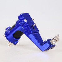 Wholesale Top Rotary Tattoo Guns - YILONG New Blue Top Alloy Motor Hybrid Rotary Tattoo Machine Gun For Shader And Liner