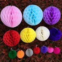 Wholesale Honeycomb Paper Balls Wholesale - 6 Inch 15 cm Hanging paper honeycomb ball for Christmas Decoration wedding supplies holiday decorations 1 PCS per OPP packaging[SKU:A488]