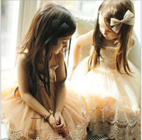Wholesale Childrens Wholesale High Fashion Clothes - 2016 Summer Baby Dresses Elegant Girls Lace Tulle Dresses Cute Kids Fashion Korean Clothes High-grade Childrens Clothing BJ D6549