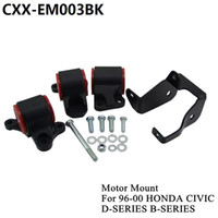 Wholesale honda b16 - For 1996-2000 HONDA CIVIC D16 B16 B18 B20 Billet Aluminum SWAP MOUNTS EK D-SERIES B-SERIES CXX-EM003BK
