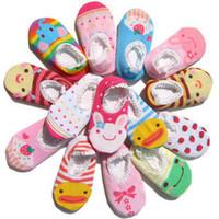 Wholesale Nissen Slip Socks - Mix 15styles Nissen Cute non-slip baby cartoon boat socks boy girl cotton floor socks skidproof socks,infant kids toddle socks 0-2 years old