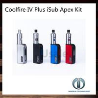 innokin cool fire kit großhandel-Innokin Coolfire IV Plus 70 Watt iSub Apex Kit mit Cool Fire IV Plus 3300mah Mod Batterie 3 ml iSub Apex Tank 100% Original VS Subox Mini