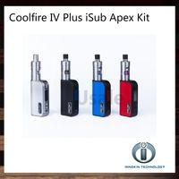 ingrosso innokin fredda fuoco iv batteria-Kit Innokin Coolfire IV Plus 70W iSub Apex con Cool Fire IV Plus 3300mah Mod Batteria 3ml iSub Apex Tank 100% originale VS Subox Mini