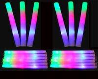 мигающие пенные палочки оптовых-2017 LED красочные стержней привело пены палку мигать пены палку, свет аплодисменты свечение пены губки ручки Сид бесплатная доставка EMS