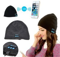Wholesale Shipping Fashion Speakers - Men Women Soft Winter Bluetooth Hats Wireless Beanie Smart Hat Headphone Headset Speaker Mic Headgear Knitted Cap Cashmere DHL Shipping