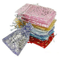 Wholesale jewelry settings use - Wholesale-25pcs set Organza Jewelry Wedding Gift Pouch Bags 7x9cm 3X4 Inch Mix Color for Party Holiday New Year Use 02IP 35Q1