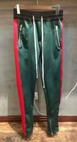 Wholesale Sportwear Pants - Best 2018 Fear Of God FOG Justin Bieber side zipper casual sweatpants men hiphop jogger track pants Sportwear S-XL