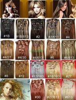 Wholesale brazilian human hair 18 5a for sale - Group buy 5A quot quot Unprocessed Brazilian remy Hair straight clip in hair remy human hair extensions colors for choose g set