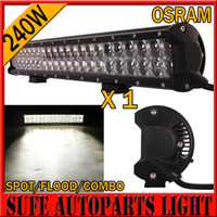 Wholesale Truck Off Road Driving Lights - 4D OSRAM 240W 23 Inch LED Light Bar Off Road Work Lights Driving Lamp Combo Beam 12v 24v Truck SUV Boat 4X4 4WD ATV LED Bar 300W