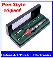 Wholesale Group Electronics - The pen type gas iron tool group Soldering Gas tool kit Butane Jet Torch   Electronics DIY SL-2000 free shipping