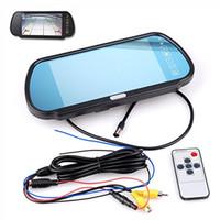 "Wholesale Wireless Car Rear Mirror - 7"" Car LCD Monitor Mirror + Wireless IR Reverse Car Rear View Backup Camera Kit"