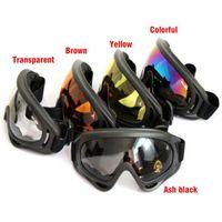 Wholesale Sunglasses Snowboard - Bicycle Cycling Goggle Glasses Eyewear Lens Ski Snowboard Skate Goggles Anti Wind Dust Cpw sunglasses