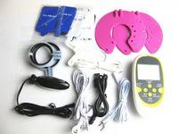 anal oyuncak satışı toptan satış-Sıcak Satış Yetişkin Oyunları 5-in-1 Elektrik Çarpması Sabit Pedleri Göğüs Bardak Penis Halkası vajina Anal Plug Kulak Klip Seks Oyuncak Setleri