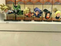 En gros 6 pcs / lot WCF Dragon Ball Z dragonball végéta son goku piccolo PVC Figure Jouet