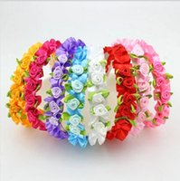 Wholesale Baby Alice Bands - Wedding Festival Baby Children Flower Headband Alice Band Lovely Floral Garland Girl Kids Hair Band Headwear Hair Jewelry