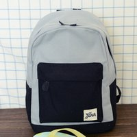 Wholesale Patchwork Books - Japan Korean Preppy Style Patchwork Canvas Women men School bag Backpack Schoolbag For Children Teenagers Girls Boy Student Book