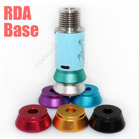 Wholesale Metal Exhibition Stands - Best Aluminum Base Metal Holder for RDA RBA Clearomizer Base Atomizer Stand Suit RBA exhibition Vape e cigs peek insulator DHL free shiping