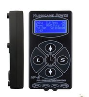 Wholesale Display Tattoo - Wholesale-2015 Hot Selling Black HP2 Hurricane Tattoo Power Digital Dual LCD Display Tattoo Power Supply Free Shipping