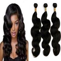 Wholesale Natural India Hair - India Human Hair Bundles Body Wave No Tangles Beautifully Quality Extension Natural Color Full Head Virgin Remy Hair