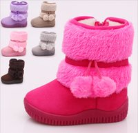 Wholesale Girls Ball Snow Boot - Hot Sale 2015 New children snow boots personality lobbing ball kids snow boots boys girls shoes winter warm boots Infantil A21