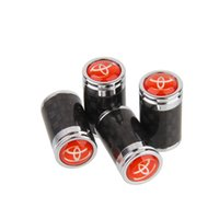Wholesale Mixed Real Carbon Fiber Car Wheel Tyre Tire Valve Caps ForToyota All Model set OEM
