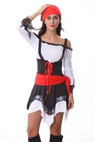 Wholesale New Girls Halloween Party Dress Evening Dress Pirate Costume Nightclub Cosplay Clothing Movie Vixen Role Play Clothes