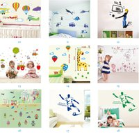 Wholesale plant decor order resale online - Mix Order Removable Home Decals Kids Room Wall Stickers Nursery Wall Decor x70cm Wall Art