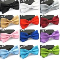 Wholesale men ties bowtie online - Men Bowtie New Fashion For Adult Wedding Party Bow Tie Multi Color Hot Sale mc C R