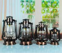 Wholesale Order For Restaurant - 20cm Retro Nostalgia Bronze Kerosene Lantern light for Bar Restaurant Wild Wamping Emergency Camp Lights order<$18no track