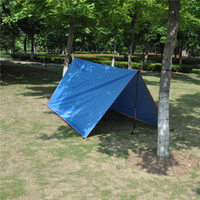Wholesale Foldable Portable Canopy - Wholesale- Portable picnic Sun Shelter Canopy Outdoor Hiking camping sky backdrop foldable Army Green Blue Red trekking awning canopy