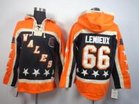 Wholesale Mario Stars - 2016 New Old Time Hockey Jerseys Wales All Star Mario Lemieux Hoodie Black Pullover Sweatshirts Winter Jacket