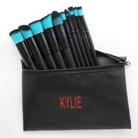 2017 Nuovo 10 pz Marca KYLIE SET SPAZZOLA Con Sacchetto di Trucco Kylie Jenney Pennelli Trucco 1 set = 10 pezzi Kylie Goat Capelli Make up Brushes