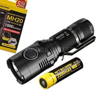 Wholesale Small Flashlight High Lumens - Nitecore MH20 1000 Lumens Smallest USB Rechargeable LED Flashlight w  18650 Batt
