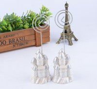20pcs Silver Castle Nom Numéro Table des menus Place Titulaire de carte Clip Wedding Baby Shower Party Réception Favor