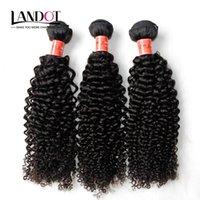 işlenmemiş sapık kıvırcık saç toptan satış-Brezilyalı Kıvırcık Insan Saç Örgüleri 3 Demetleri Işlenmemiş 8A Perulu Malezya Hint Kamboçyalı Moğol Jerry Kinky Bukleler Saç Uzantıları