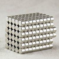 neodym-magneten großhandel-100 teile / paket Runde magnete D5X4mm Neodym Disc Super Starke Seltene Erde N35 Kleine Kühlschrankmagnete N35 magnete NdFeB magneten