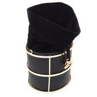 schwarzer metall eimer großhandel-Berühmte Marke Damenmode Handtaschen Eimer Schwarz PU Metall String Abend Kupplungen Party Clutch Bag Umhängetasche Crossbody Taschen