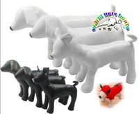 Wholesale Toys For Dogs Interactive Wholesale - AB001 Wholesale Pet products 3pcs lot black white leather dog models standing position dog puppy mannequin for pet shop
