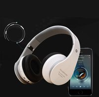Wholesale Bluetooth Headset Card Mp3 - Wholesale MP3 headset Bluetooth earphone game music wireless Bluetooth headset bass phone Headphones Michael Card can be inserted